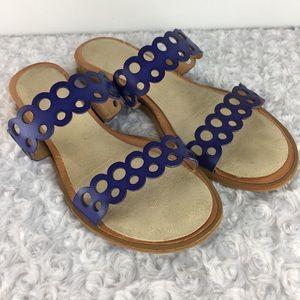 Dolce Vita Leather Slide Wood Heel Sandals